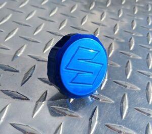 S Logo CANDY Blue Brake Reservoir Cap Suzuk GSXR SV650S SV1000S TL1000S TL1000R