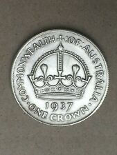Vintage 1937 Australian 1 ONE CROWN Coin, Australia....Numismatic