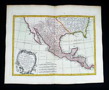 1785 ZANNONI - rare map of CENTRAL AMERICA, MEXICO, CALIFORNIA, TEXAS, PANAMA