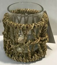 Yankee Candle Nautical Sea Grass Votive Holder New !