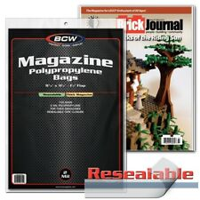 Magazine & Program Thick, Storage Bags, Resealable x 100 pack