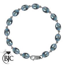 Pulseras de joyería de plata de ley topacio