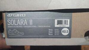 GIRO Women's Solara White Road Cycling Shoes, Size US 8.5 NEW