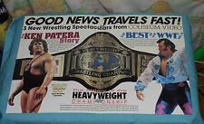 original COLISEUM VIDEO WWF Ken Patera Honky Tonk Man advertisement flyer
