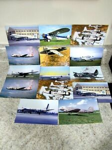 Lot (14) New Misc. Airplane Postcards, WWII Vindicator Helldiver Pan Am, Eastern