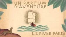 CARTE PARFUMEE PUBLICITAIRE UN PARFUM D'AVENTURE L.T.PIVER PARIS CALENDRIER 1931