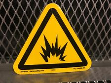 "Clarion Safety ~ Explosion ~ 3.8"" X 3.3"" Label Sticker Outdoor Material"