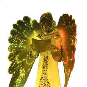 LED Light Up Angel Figures 21cm Ornament Christmas Home Xmas Decorations Gifts