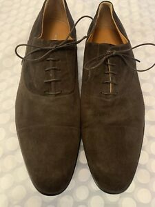Russell And Bromley (Moreschi) Mens 'CHICAGO' Brown Suede Lace Up Shoes Size 9