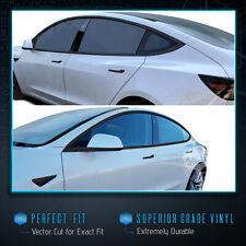 For 2017-2020 Tesla Model 3 Window Side Mirror Door Chrome Delete Blackout Kit