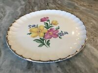 Golden Floral by Nasco China DINNER PLATE, 22 Kt. Gold, USA