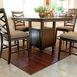 Bamboo 5' X 8' Floor Mat Area Rug, Walnut Color Floor Runner Rug Indoor Carpet