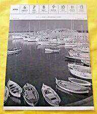 1955 Antibes le port Alpes-Maritimes Affiche scolaire art print régionalisme