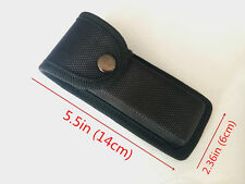 NEW HQ Black Nylon Sheath For Folding Pocket Knife Outdoor Camping Pouch Case