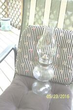 KEROSENE OIL LAMP WITH WICK CLEAR GLASS VGC
