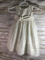 CINDERELLA Girl Dress Size 2T 2 Off White Ivory Bling Glitz Dress Occasion