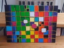 Multicoloured Cube Abstract Canvas - Brand New