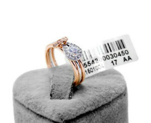 Valentine's Day Genuine Splittable Novel simulated diamond sea clear Ring size 8