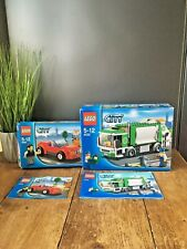 LEGO CITY GARBAGE TRUCK BIN LORRY 4432 & SPORTS CAR 8402 BOX & INSTRUCTIONS ONLY