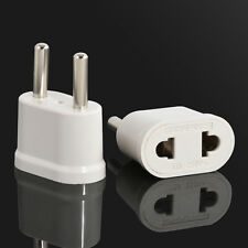 2Pcs Travel Charger Adapter Converter US USA to EU Europe  Wall AC Power Plug