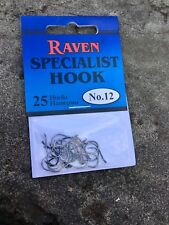 Raven Specialist Hooks, One 25 Pack, Size 12