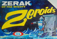 Rare 1968 boxed No.47712 ZERAK OF THE MIGHTY Zeroids space robot toy by IDEAL