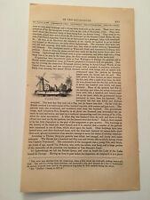 K41) Windmill Point Ogdensburg New York  American Revolution 1860 Engraving