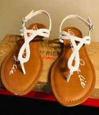 New American Rag Women's Akeira White T-Strap Sandals 5M