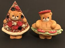 Lucy & Me/Lucy Rigg Pizza Bear And Sub Sandwich Bear; Free Priority Shipping!
