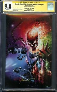 Cosmic Ghost Rider Destroys Marvel History #1 CGC 9.8 Signed Crain Virgin Cover