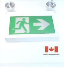 M.T.C Canada LED EXIT SIGN Running Man Combo Plastic CSA