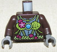 LEGO NEW MINIFIGURE TORSO DARK BROWN LEGENDS OF CHIMA PIECE