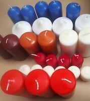 5 Kg HMH Stumpen Kerzen gemischt Stumpenkerzen versch. Größen Farben