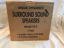 Linear Dynamics Surround Sound Speakers Model ST-2 5-40 Watts 6-8 Ohms Miles