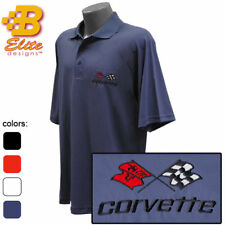 C3 Corvette Embroidered Men's Performance Polo Shirt (BDC3EP104)