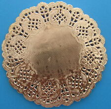 Paper Doilies Round Gold 14cm Pk 10 Great for Cardmaking