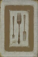 New Vintage Style Retro Metal Wall Hanging Fork Contemporary Design