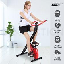 Genki Folding Exercise Bike Magnetic Upright X-Bike Bicycle Cycling Home Gym