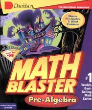 Math Blaster Mystery Pre-Algebra PC new CD JumpStart XP-Home tested not 64bit