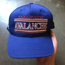 Men's Vintage 90's Annco Colorado Avalanche Blue Silver Red Snapback Hat Cap VTG