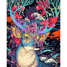 Christmas Deer DIY Painting by Numbers Kits handgemalte Öl-Malerei Home Dekor ZP