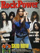 ROCK POWER 1 1991 Skid Row Living Colour LA Guns Sepultura Bon Jovi Soul Asylum