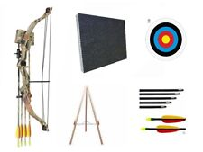 Archery Camo Compound Kids Junior Children Bow and Arrows Set Kit Target & Stand