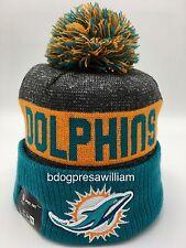2016 Miami Dolphins New Era On Field Sideline Knit Beanie