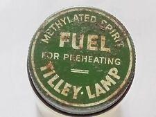 TILLEY LAMP METHYLATED SPIRIT FUEL SCREW JAR VERY RARE ORIGINAL
