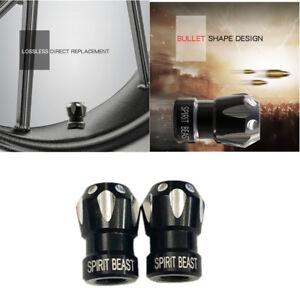 1 Pair Black CNC Aluminum Alloy Motorcycle Tire Mouthpiece Gas Cap Mouth Cover