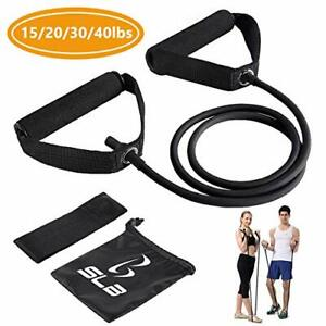 Black Resistance Bands with Handles, Home & Gym Strength Training
