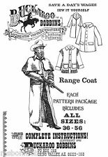 Buckaroo Bobbins Civil War Range Coat / Duster & Barn Coat Sewing Pattern 36-56