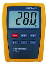 Scientific Digital Thermometer 1 Sensor Probe K-Type HVAC Tool Temperature M6801