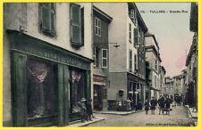 cpa RARE Rhône Alpes TULLINS (Isère) Grande Rue MERCERIE GIRAUD ORARD Commerces